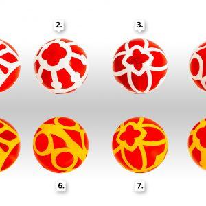 Színes mintázású játéklabdák (15-18cm)
